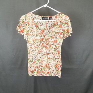 3 for $10- Medium floral blouse